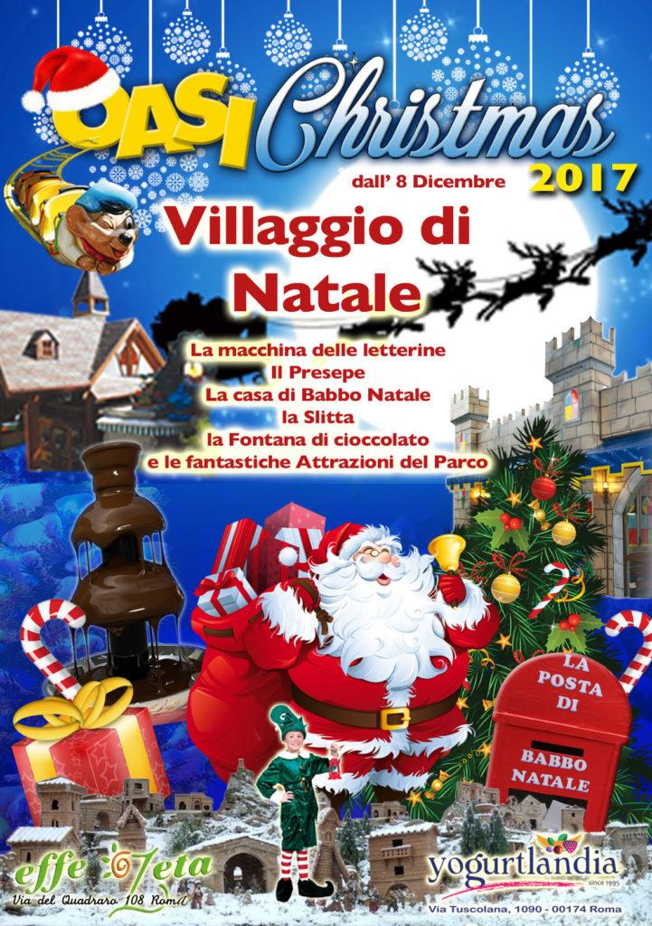 Babbo Natale 8 Dicembre Roma.Villaggio Di Natale 2016 A Oasipark News Oasipark